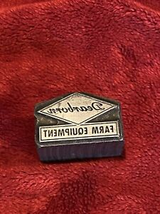 Vintage Dearborn Farm Equipment Lead Printers Block, Very Rare Piece!
