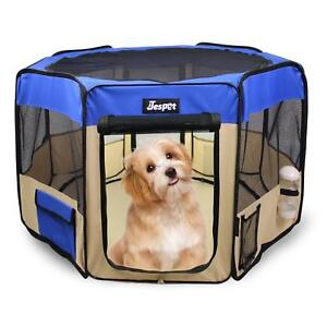 Jespet-2-Door-Soft-sided-Pet-Playpen-Portable-Exercise-Pen-with-Carry-Bag