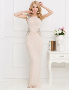 e8118b5b0d Image is loading Cream-coloured-Shimmering-Sequins-Pleated-Maxi-Formal -Wedding-