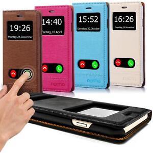 Flip-Cover-fuer-Samsung-Galaxy-Handy-Tasche-Schutz-Huelle-Case-Etui-Wallet-Schale