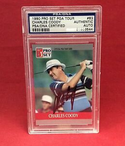 Charles Coody Signed 1990 Pro Set PGA Tour Slabbed Card - PSA/DNA # 81996544