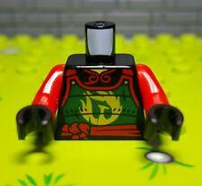 ☀️NEW Lego Torso Black Armor Gold Dragon Wings Dwarf Head Buckle Pouches Pattern