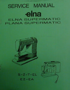 Elna air electronic service manual.