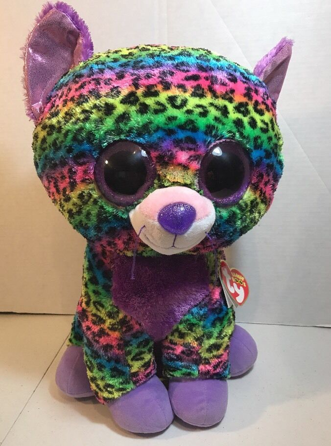2015 TY Beanie Boo Trixie the Leopard Justice Exclusive Large Jumbo Plush W tags