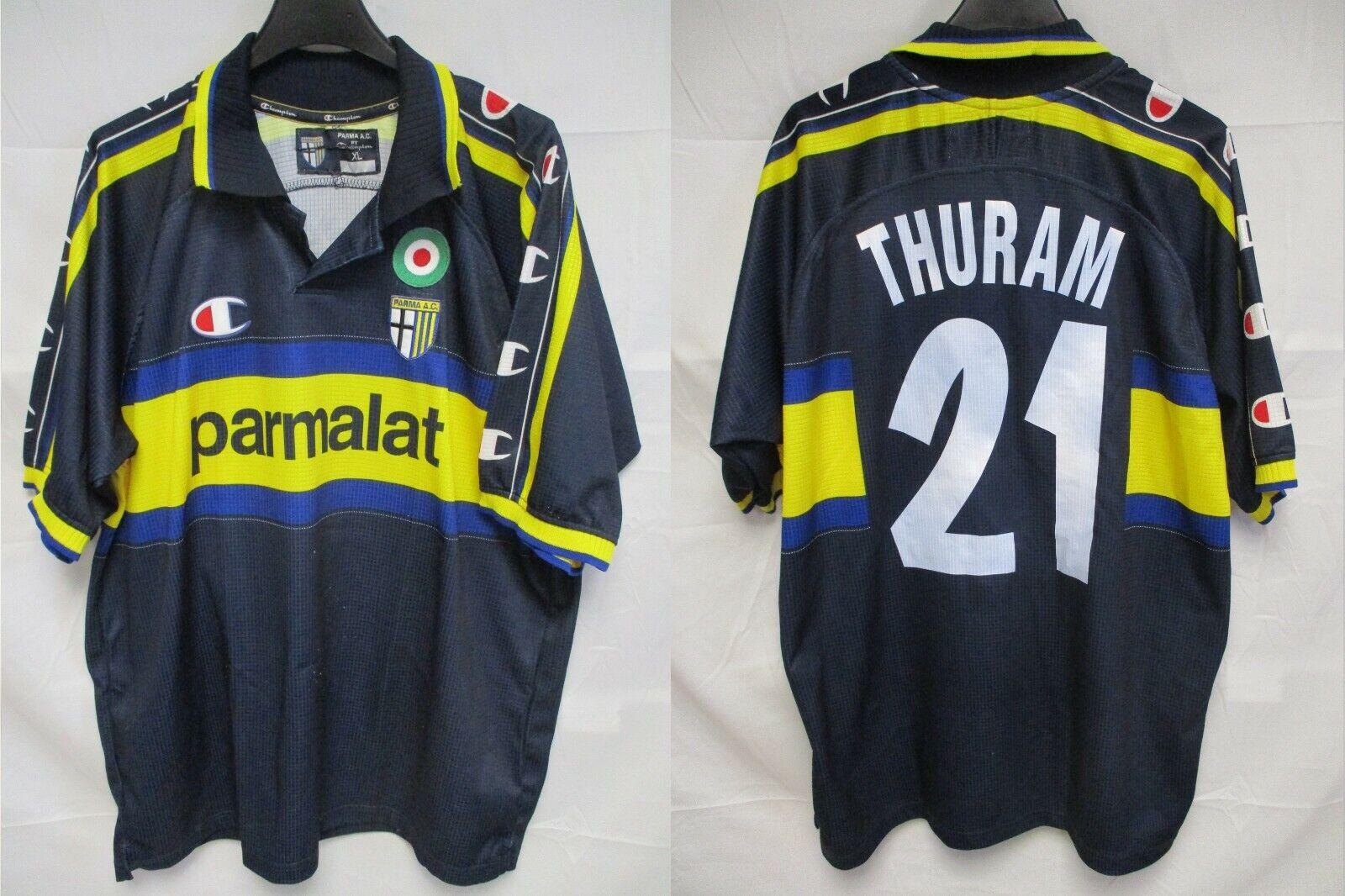 Maillot PARME PARMA AC 1999 2000 vintage THURAM n21 maglia CHAMPION USA shirt XL