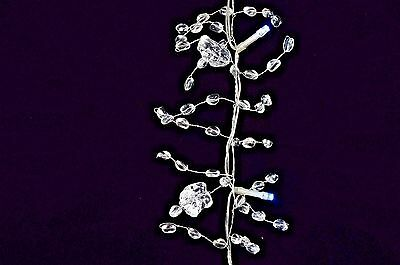 6' Acrylic Beaded Ice Garland String Light Party Favor Holiday Decor Pure Witheid