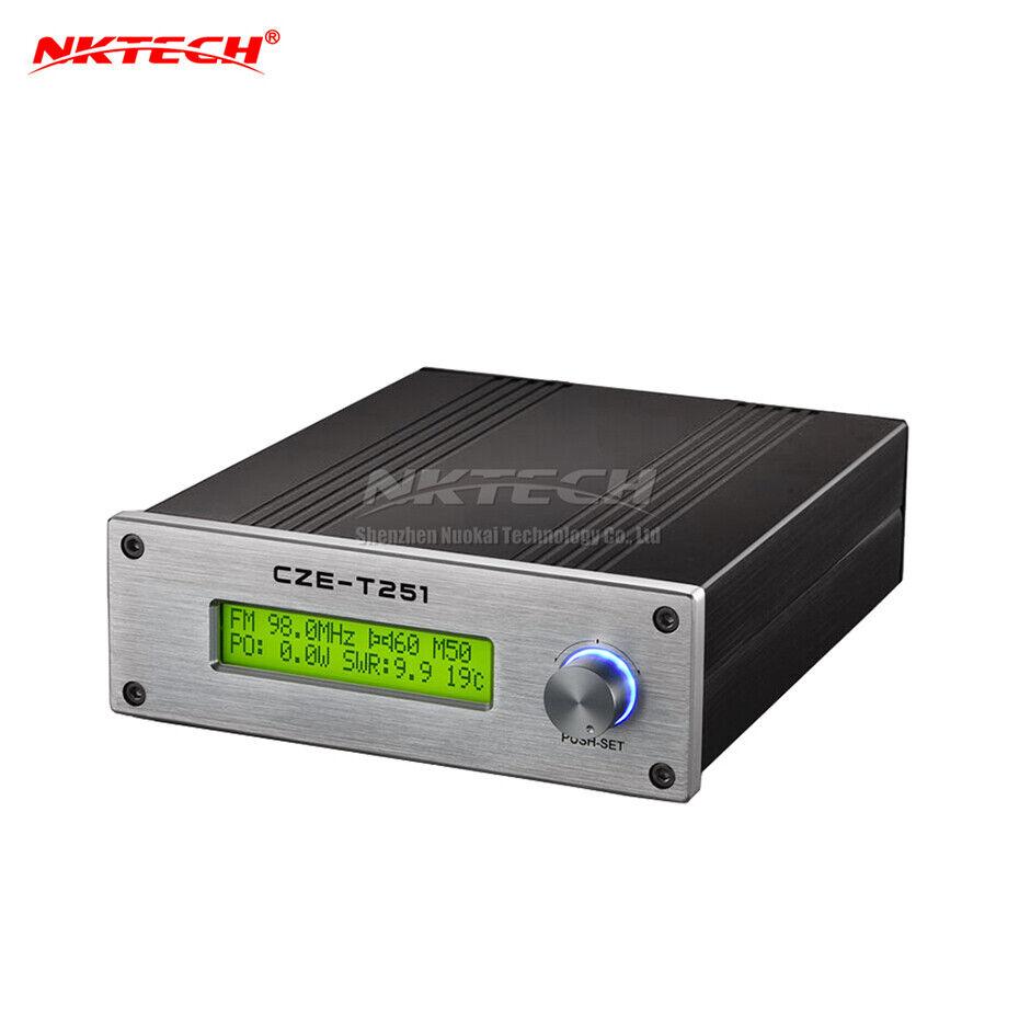 NKTECH PLL Stéréo FM Transmetteur CZE-T251 Adj 0-25W émetteur Broadcast Station