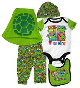 Image Is Loading TMNT Ninja Turtles Gift Set Bib Bodysuit Pants
