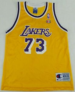 0469251d7a4d Image is loading Vintage-Champion-Los-Angeles-Lakers-Dennis-Rodman- Basketball-