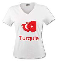 T-shirt Femme Carte Turquie - Drapeau Turc - Du S Au Xl