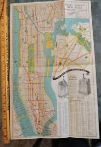 Nyc Subway Map Ebay.Details About Rare 1939 Hotel Edison New York City Nyc 11x18 Subway Map