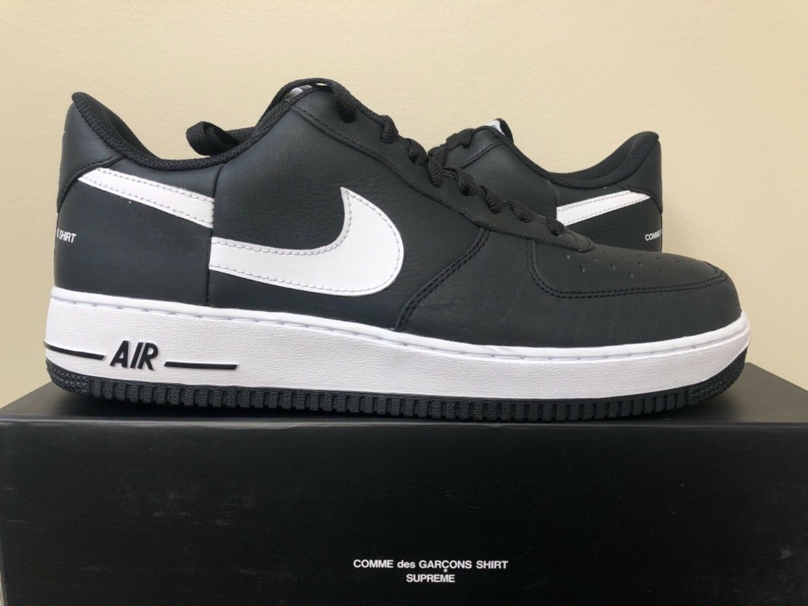 Nike Air Force 1 x Supreme x CDG Black AR7623-001 Size 11-13 100% Authentic