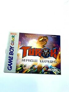 Turok-Rage-Wars-Nintendo-Game-Boy-Color-Instruction-Manual-Booklet-ONLY