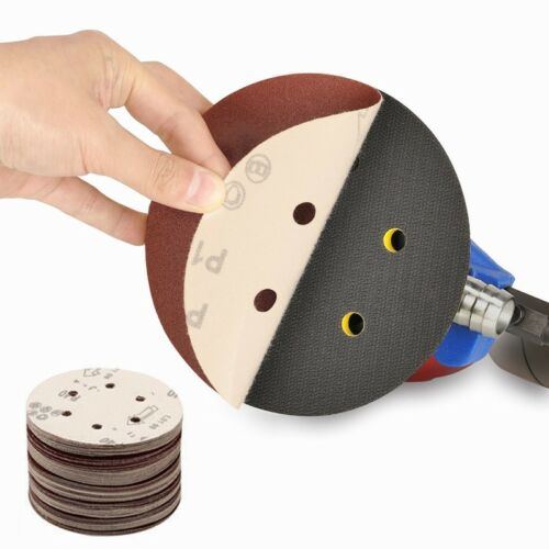 "10PCS Sandpaper 6/"" 150mm Sanding Discs 80~2000 Grit Sander Pads Hook and Loop"