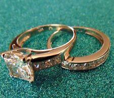 3.40 CT Man Made Diamond Engagement & Wedding Ring 2 pc 14K White Gold size 6