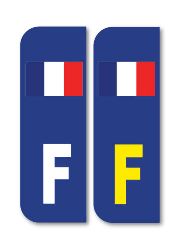 2 x F FLAG FRANCE Car Number Plate vinyl stickers