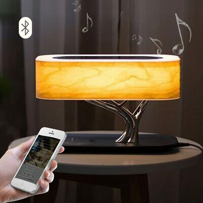 Bonsai Tree Light Lamp With Bluetooth Speaker And Qi Wireless Charging Charger Ebay
