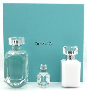 Tiffany-by-Tiffany-amp-Co-Set-EDP-2-5oz-Spr-amp-5ml-Spl-3-4B-L-New-in-Hard-Box