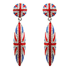 Butler and Wilson Crystal Union Jack Crystal Cone Earrings BLACK FRIDAY RRP £58