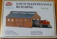 Model Power N 1516 Building Kit -- Locomotive Maintenance Building