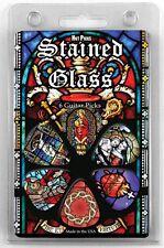 6 Stained Glass Christian Church Choir Jesus Christ Guitar pick gift set 1RSGRCS