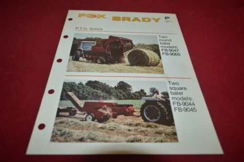 Fox FB-9047 FB-9060 Round Baler FB9044 FB-9045 Baler Dealer/'s Brochure MFPA2
