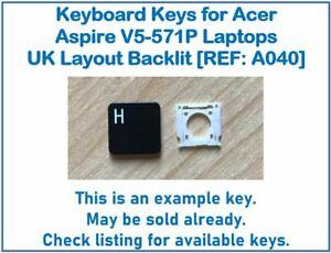 Keyboard Keys for Acer Aspire V5-571P Laptops UK Layout Backlit [REF: A040]