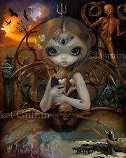 Jasmine Becket-Griffith art print dark fairy angel SIGNED Unseelie Court: Famine