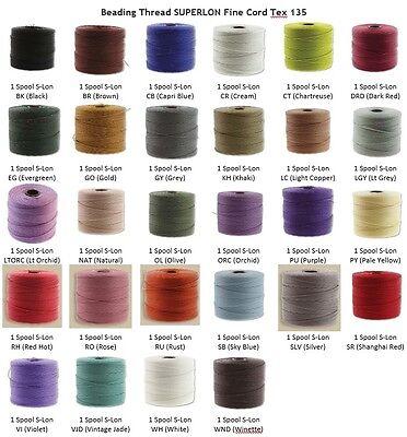SL135-VJD Vintage Jade Macrame Knotting Cord Braiding Cord Superlon Bead Cord S-Lon TEX135 Bead Cord Kumihimo 118 Yard Spool