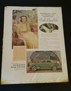 Vintage-Studebaker-Land-Cruiser-Priscilla-Duke-Car-Advertisement-1950-039-s-Paper-Ad