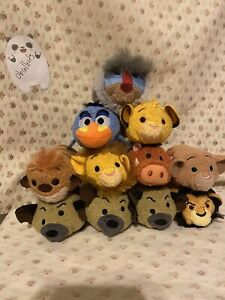 Disney-Tsum-Tsum-Lot-Plush-Lion-King-Set-of-11-Simba-Nala-Timon-Pumba-US-Seller