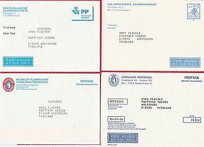 Info ! 64 Dienstpostkarten D S Grönländischen Post Grönland