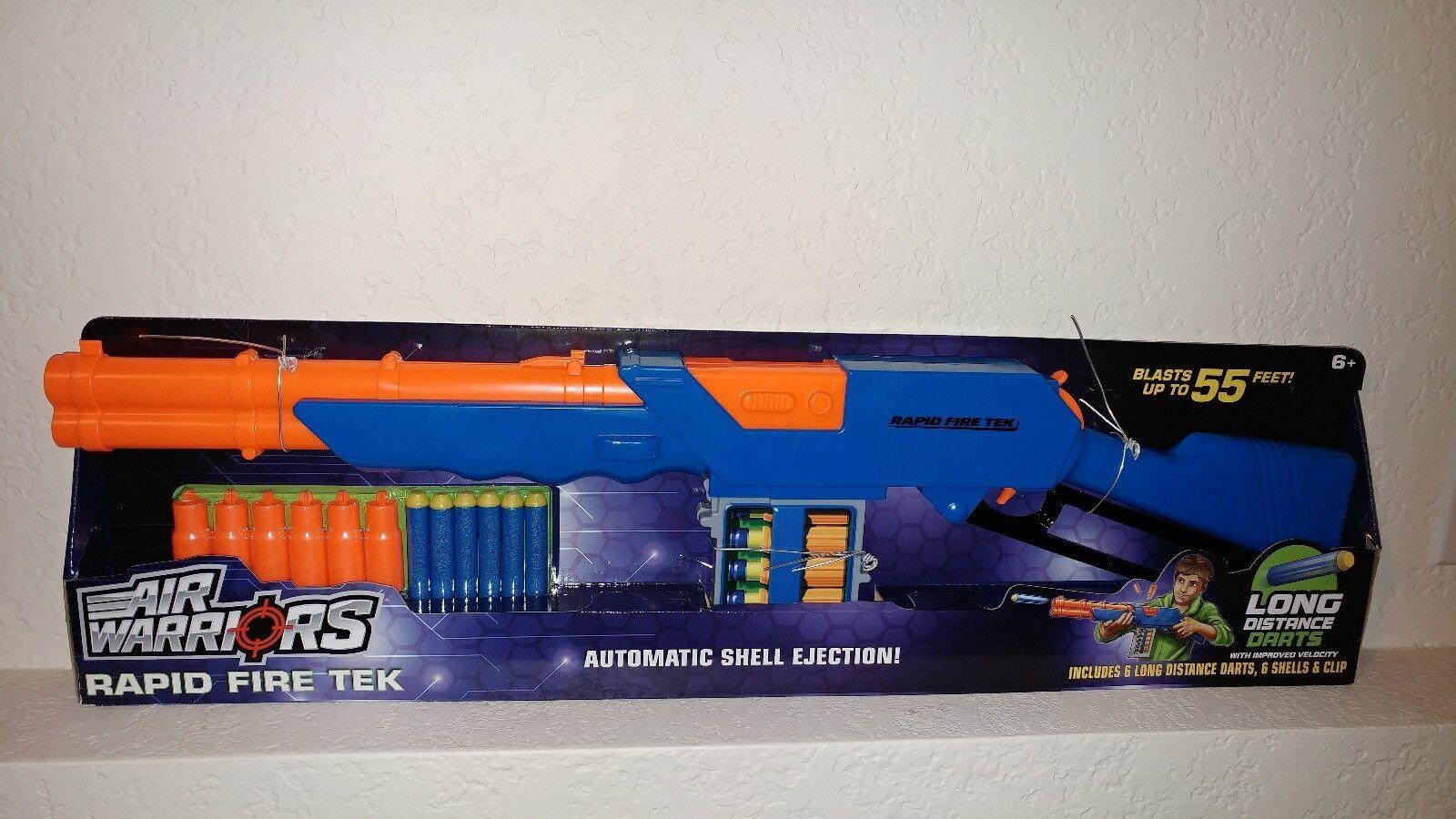 Buzz Bee Toys Toys Toys Air Warriors Blaster Rapid Fire Tek Dart Gun Rifle Lever Tech Nerf 8c5ebf