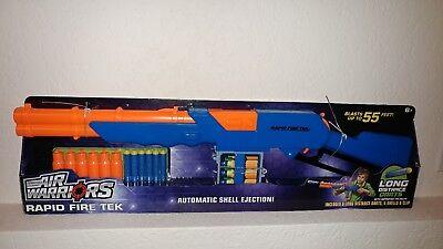 Buzz Bee Toys Air Warriors Blaster Rapid Fire Tek Dart Gun Rifle Lever Tech Nerf Dart Guns Soft Darts