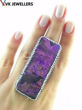 Turkish Handmade 925 Sterling Silver Jewelry Mohave Purple Turquoise Ring VK01