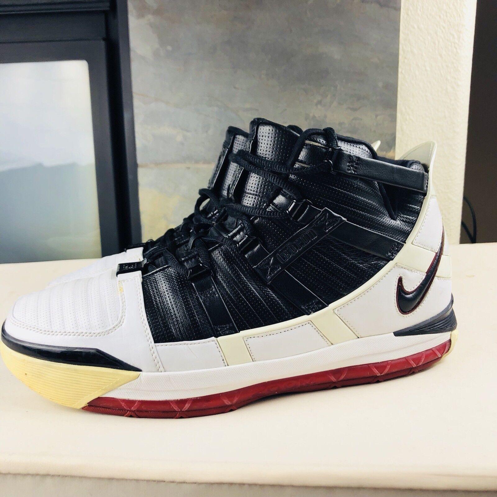 Nike lebron james iii zoom rosso - nero 312147-101