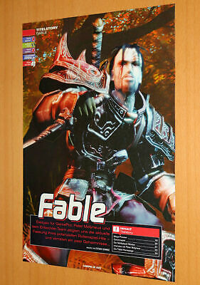 Fable Video game Old Advertising Small Poster Promo Ad ...