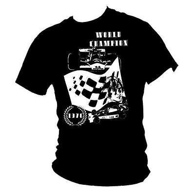 James Hunt the Shunt Grand Prix F1 T Shirt T-shirt ALL OPTIONS best quality