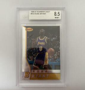 1996 Bowmans Best Kobe Bryant ROOKIE RC #R23 BGS 8.5 MINT HOF Lakers [8/9/9.5/9]