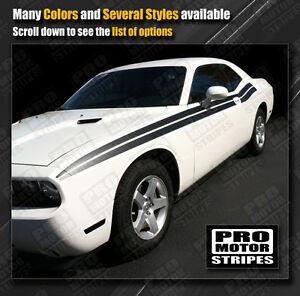 Dodge Challenger SEMA Mopar Style Side Stripes Decals 2011 2012 2013 2014