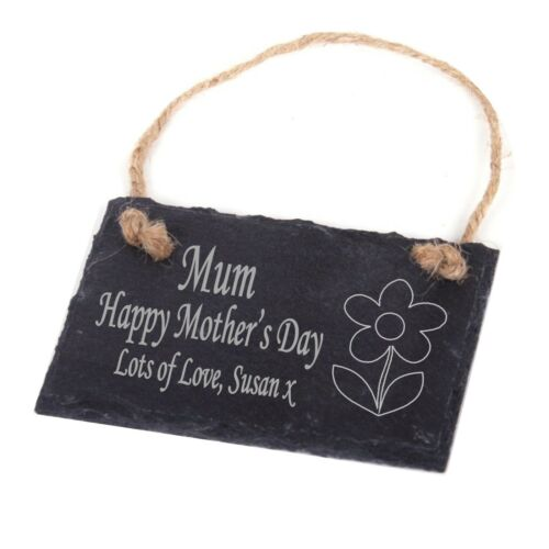 Personalised Engraved Slate Plaque//Sign Mum Mummy 1st Mothers Day Gift