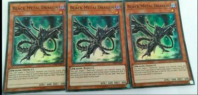 MULTIPLE AVAILABLE! YUGIOH 3X BLACK METAL DRAGON SUPER RARE OP06-EN010 HOT