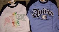 Vintage Avirex Long Sleeve White Or Blue Men's Cotton Shirt Size Medium