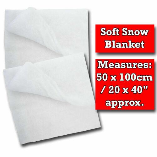 WHITE 2PK SNOW BLANKET SOFT Fake Christmas Nativity Roll Artificial Xmas DecorUK