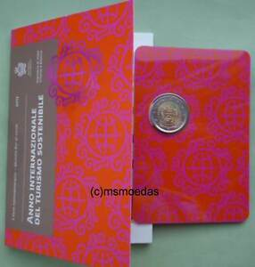 San-Marino-2-Euro-Gedenkmuenze-2017-Tourismus-commemorative-Offizielle-CoinCard