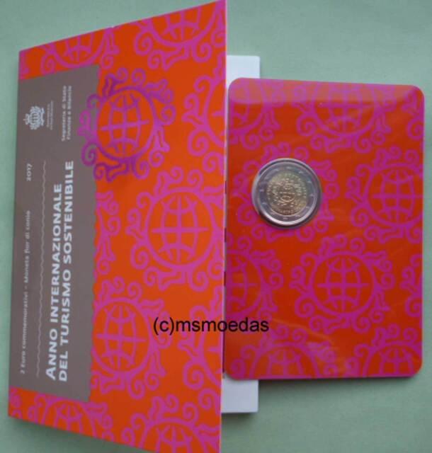 San Marino 2 Euro Gedenkmünze 2017 Tourismus commemorative Offizielle CoinCard