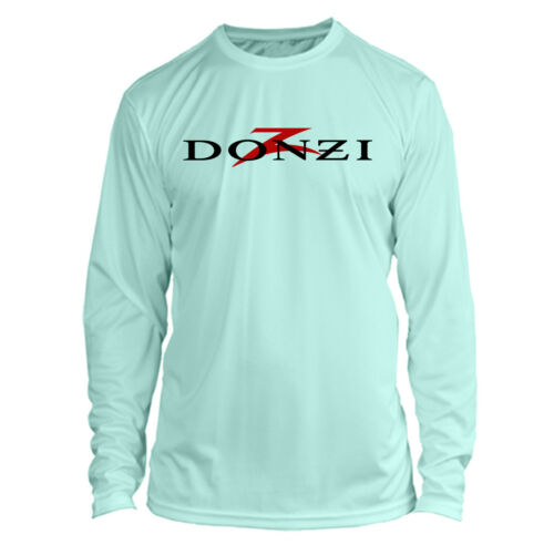 Donzi Boats Long Sleeve Microfiber UPF Fishing Shirt Seafoam Green