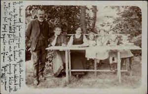 1913 Stempel Leipzig PLAGWITZ 1d auf Echtfoto-AK Familie, Kinder, Family-Photo