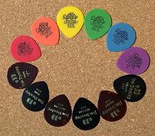 Guitar Picks Dunlop grande Lágrima Conjunto Tortex & Celuloide