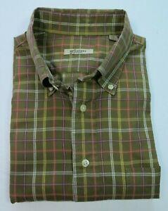 Burberry-London-Men-039-s-Long-Sleeve-Cotton-Multi-Color-Checks-Casual-Shirt-XL-USA